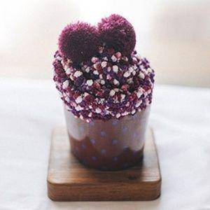 Fuzzy Cupcake Socks - Purple